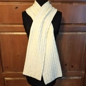 IZOD Large Chunky Cable Knit White Scarf
